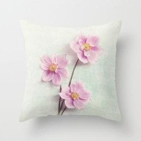 pink anemone Throw Pillow by Sylvia Cook Photography | Society6