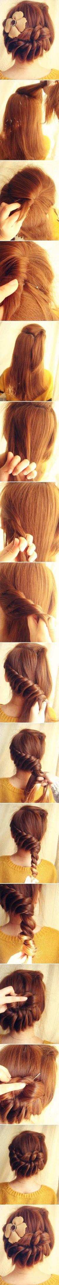 DIY Original Braid Medium Length Hair Hairstyle DIY Fashion Tips | DIY Fashion Projects