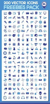 Free download: 200 vector icons | Webdesigner Depot