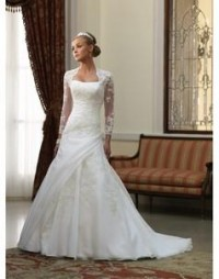 Wedding Dresses with Sleeves, Sexy Wedding Dresses with Lace Sleeves