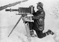 Herbert George Ponting and telephoto apparatus, Antarctica, January 1912 | Flickr - Photo Sharing!