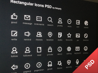 Rectangular Icons PSD by Onlyoly