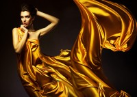 brunettes satin yellow dress fashion photography - Wallpaper (#2016260) / Wallbase.cc