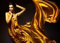 brunettes satin yellow dress fashion photography - Wallpaper (#2016260) / Wallbase.cc