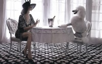women models fashion dogs tables carpet chairs Champagne hats luxury poodle - Wallpaper (#2231577) / Wallbase.cc