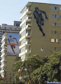 Nike Run Through The Wall Optical Illusion | Optical Illusions by Visual Fun House