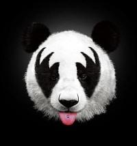 Kiss of a panda Art Print by Robert Farkas | Society6