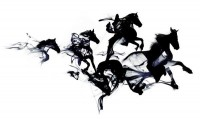 Black horses Art Print by Robert Farkas | Society6