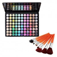88 Colors Eye Shadow & Cosmetic Brushes Set - makeupsuperdeal.com