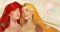 Ariel :: Rapunzel by ~Kazeki