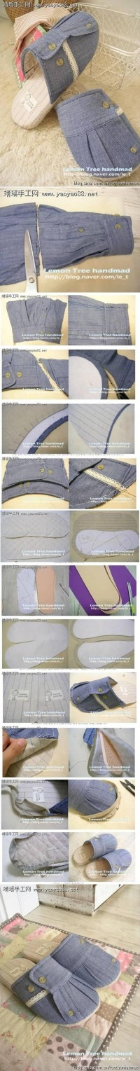 DIY Old Clothes Cuff Slipper DIY Projects | UsefulDIY.com
