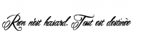 Rien n'est hasard. Tout est destin?e Tattoo in Mardian Font 45.93333333333333px