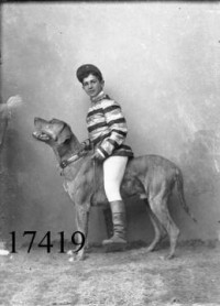 Ung mand med hund, Boy and Dog 1899 | Flickr - Photo Sharing!