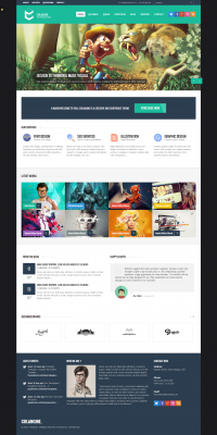 Colangine - Creative Flat HTML5 Template by ~behzadg
