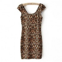 Brown-leopard Sexy Mini Dress @ Dresses,Casual Dress,Casual Dresses,Lace Dress,Womens Dresses,Sweater Dress,Maxi Dresses,V Neck Dress,Long Sleeve Dresses,Cute Dresses,Ladies Dresses,Junior Dress,Teen Clothing,Party Dresses,Black,Red,White Dress,Cheap Womens Dresses on sale @ maykool.c