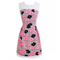 Pink Floral Print Dress @ Dresses,Casual Dress,Casual Dresses,Lace Dress,Womens Dresses,Sweater Dress,Maxi Dresses,V Neck Dress,Long Sleeve Dresses,Cute Dresses,Ladies Dresses,Junior Dress,Teen Clothing,Party Dresses,Black,Red,White Dress,Cheap Womens Dresses on sale @ maykool.c