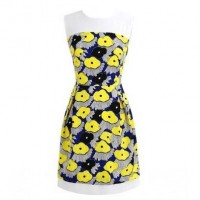 Yellow Floral Print Dress @ Dresses,Casual Dress,Casual Dresses,Lace Dress,Womens Dresses,Sweater Dress,Maxi Dresses,V Neck Dress,Long Sleeve Dresses,Cute Dresses,Ladies Dresses,Junior Dress,Teen Clothing,Party Dresses,Black,Red,White Dress,Cheap Womens Dresses on sale @ maykool.c