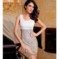 White Floral Lace Accent Bandage Dress @ Dresses,Casual Dress,Casual Dresses,Lace Dress,Womens Dresses,Sweater Dress,Maxi Dresses,V Neck Dress,Long Sleeve Dresses,Cute Dresses,Ladies Dresses,Junior Dress,Teen Clothing,Party Dresses,Black,Red,White Dress,Cheap Womens Dresses on sale @ maykool.c