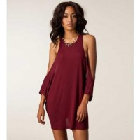 Dark Red Uneven Cutout Sexy Dress @ Dresses,Casual Dress,Casual Dresses,Lace Dress,Womens Dresses,Sweater Dress,Maxi Dresses,V Neck Dress,Long Sleeve Dresses,Cute Dresses,Ladies Dresses,Junior Dress,Teen Clothing,Party Dresses,Black,Red,White Dress,Cheap Womens Dresses on sale @ maykool.c