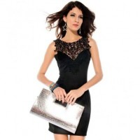 Black Crochet Design V Back Dress @ Dresses,Casual Dress,Casual Dresses,Lace Dress,Womens Dresses,Sweater Dress,Maxi Dresses,V Neck Dress,Long Sleeve Dresses,Cute Dresses,Ladies Dresses,Junior Dress,Teen Clothing,Party Dresses,Black,Red,White Dress,Cheap Womens Dresses on sale @ maykool.c