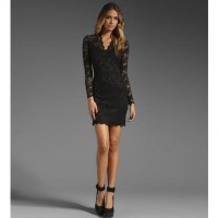 Black V Neck Long Sleeve Lace Dress @ Dresses,Casual Dress,Casual Dresses,Lace Dress,Womens Dresses,Sweater Dress,Maxi Dresses,V Neck Dress,Long Sleeve Dresses,Cute Dresses,Ladies Dresses,Junior Dress,Teen Clothing,Party Dresses,Black,Red,White Dress,Cheap Womens Dresses on sale @ maykool.c