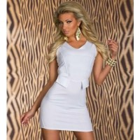 White V Neck Slit Detailing Sexy Dress @ Dresses,Casual Dress,Casual Dresses,Lace Dress,Womens Dresses,Sweater Dress,Maxi Dresses,V Neck Dress,Long Sleeve Dresses,Cute Dresses,Ladies Dresses,Junior Dress,Teen Clothing,Party Dresses,Black,Red,White Dress,Cheap Womens Dresses on sale @ maykool.c