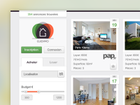 Real Estate Web App Interface by Lukas Bugla