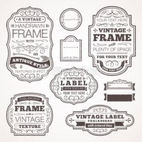 Vintage text frames - Stock Illustration - iStock