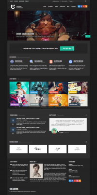 Colangine Dark Version HTML5 by ~behzadg
