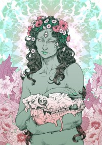 Psychedelic Priestess by Joanna Krótka - INPRNT