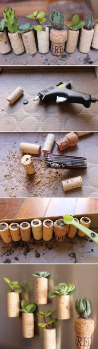 DIY Wine Cork Garden DIY Projects | UsefulDIY.com