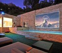 Fixed Frame Outdoor Projection Screen | Fancy Crave