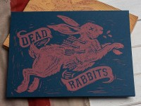 Dead Rabbits - Block Print by Derrick Castle