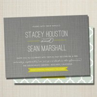 custom modern wedding invitation linen love. by westwillow