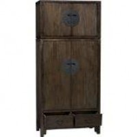 Blake Grey Wash 2-Door Cabinet in Armoires | Crate and Barrel