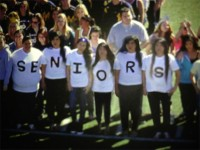 Seniors Spell Out a Message