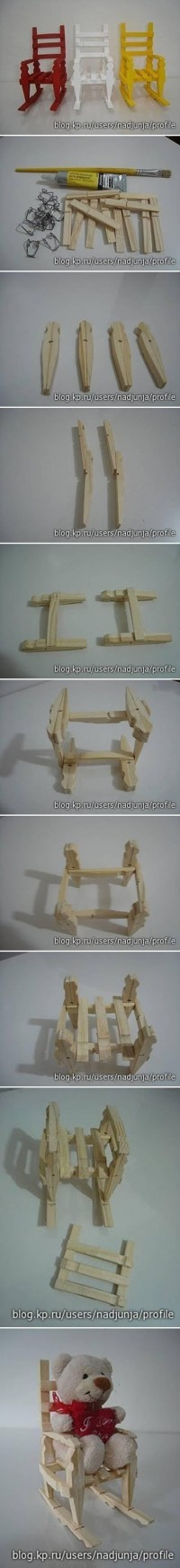 DIY Clothespin Rocking Chair DIY Projects | UsefulDIY.com