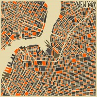 Modern Abstract City Maps | Colossal