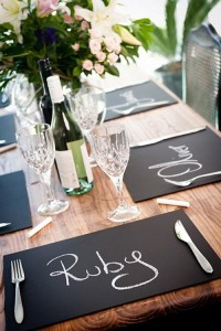The Hottest Wedding Trend: Chalkboard Accessories | Weddingomania