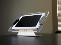 CLEAR iPad Kiosk Enclosure with Table/Wall Mount
