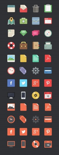 Free download: 48 flat designer icons | Webdesigner Depot