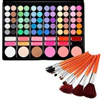 Silky 78 Colors Makeup Eye Shadow Palette and Blushers ( Free Brushes) - makeupsuperdeal.com