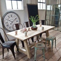 Reclaimed Scaffold Board Dining Table