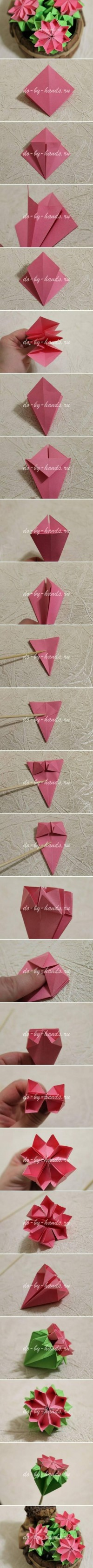 Origami Modular Primrose Flower | Origami Instruction