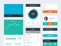 Freebie PSD: Flat UI Kit by Riki Tanone