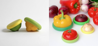 Rubber caps keep leftover food fresh for longer | Springwise