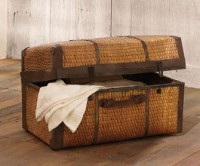 Vintage Rattan Travel Trunks - Vintage Storage - Vintage Home - Furniture - NapaStyle