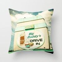 Big Daddy's drive in Throw Pillow by Sylvia Cook Photography | Society6