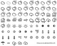 Designer First Climacons - Weather Icons (PSD) - Designer First