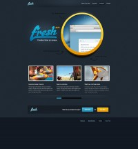 Designer First Fresh App - Web Template (PSD) - Designer First